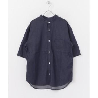 [マルイ]【セール】メンズシャツ(デニムバンドカラー半袖シャツ)/アーバンリサーチ サニーレーベル(メンズ)(URBAN RESEARCH Sonny Label)