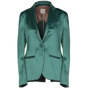 《期間限定セール開催中!》,MERCI レディース テーラードジャケット グリーン 44 95% ポリエステル 5% ポリウレタン