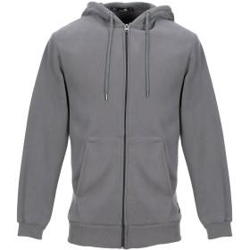《期間限定セール開催中!》CATCH メンズ スウェットシャツ 鉛色 M コットン 96% / ポリウレタン 4%
