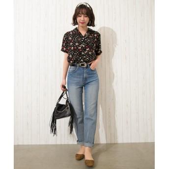 シャツ - Libby & Rose 花柄オープンカラーシャツ