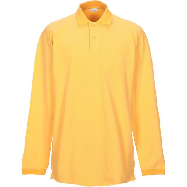 《期間限定セール開催中!》HAIKURE メンズ ポロシャツ あんず色 L コットン 100%