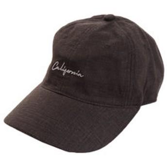 【Super Sports XEBIO & mall店:帽子】リネン刺繍キャップ Calif 897PA9ST1703 BLK