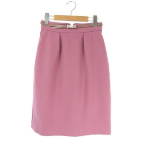 未使用品 プロポーション ボディドレッシング PROPORTION BODY DRESSING スカート 膝丈 タイト タック ベルト付き 2 ピンク