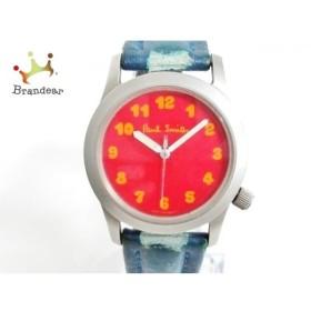ポールスミス PaulSmith 腕時計 6038-G13133TA メンズ 革ベルト レッド   スペシャル特価 20190924