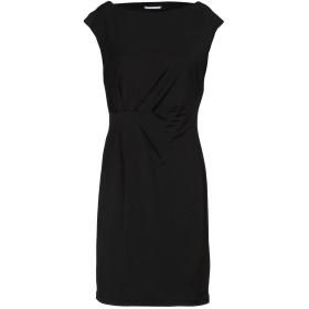 《セール開催中》BIANCOGHIACCIO レディース ミニワンピース&ドレス ブラック S アセテート 95% / ポリウレタン 5%