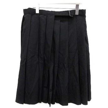 ヨウジヤマモトプールオム YOHJI YAMAMOTO POUR HOMME 10SS ラップスカート プリーツ ウール ギャバジン 3 黒 ブラック