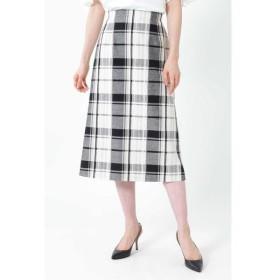 NATURAL BEAUTY / ナチュラルビューティー ◆[WEB限定商品]ビッグチェックロングタイトスカート