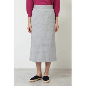 HUMAN WOMAN ≪Japan couture≫ ウエストタックスカート ひざ丈スカート,Lグレーヘリンボーン1