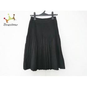 ニジュウサンク 23区 スカート サイズ23 レディース 黒 プリーツ   スペシャル特価 20190926
