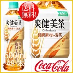 爽健美茶 健康素材の麦茶 600ml 48本 (24本×2ケース) PET 機能性表示食品  安心のメーカー直送 送料無料