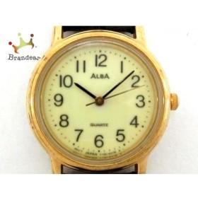 アルバ ALBA 腕時計 Y136-6A80 レディース 革ベルト/型押し加工 アイボリー 新着 20190614