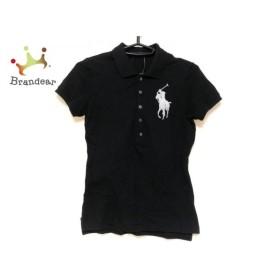 ラルフローレン RalphLauren 半袖ポロシャツ サイズM レディース ビッグポニー 黒×白 ビーズ   スペシャル特価 20190930