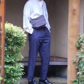 【受注制作】スタナータッサーナイロン サコッシュ チャコールグレー