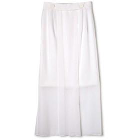 ADORE トリアセシフォン2枚重ねスカート ホワイト 36
