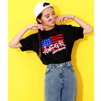 [マルイ]【セール】アメリカストリートロゴTシャツ/アナップキッズ&ガール(ANAP KIDS&GIRL)