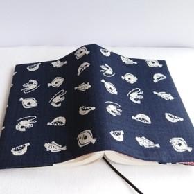 魚屋さんのブックカバー(文庫本サイズ)