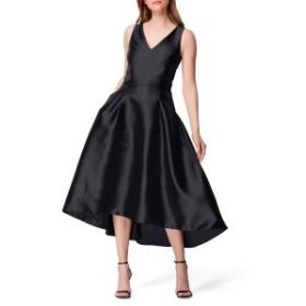 タハリ レディース ワンピース トップス Tahari High/Low Mikado Cocktail Dress (Regular & Petite) Black