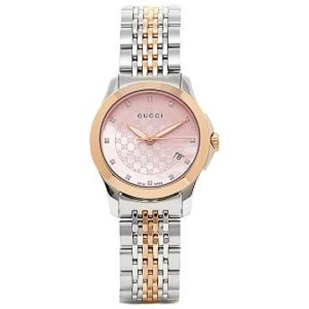 グッチ 時計 レディース GUCCI YA126538 Gタイムレス 腕時計 ウォッチ シルバー/ゴールド/ピンクパール レディース