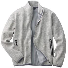 20%OFF【メンズ】 ドライ・軽量・ストレッチ・ダブルフェイス素材スタンドカラージャケット - セシール ■カラー:グレー系 ■サイズ:5L,3L