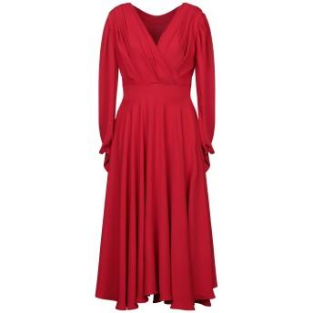 《セール開催中》ALEX VIDAL レディース ロングワンピース&ドレス レッド 40 ポリエステル 100%