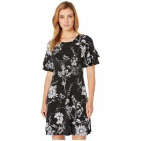 カレンケーン レディース ワンピース トップス Ruffle Sleeve Dress Print
