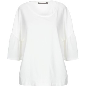 《期間限定セール開催中!》19.70 NINETEEN SEVENTY レディース T シャツ ホワイト 46 コットン 100% / シルク