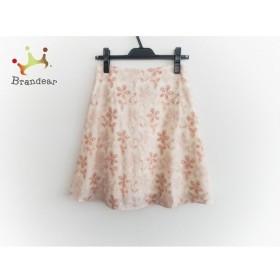 シビラ Sybilla スカート サイズM レディース 美品 ベージュ×オレンジ×ピンク フラワー/刺繍   スペシャル特価 20190918