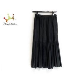 レリアン Leilian ロングスカート サイズ7 S レディース 美品 黒 プリーツ 新着 20190614