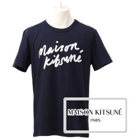 [メゾンキツネ]MAISON KITSUNE Tシャツ(ネイビー) MK-017