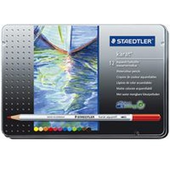 ステッドラー カラト水彩色鉛筆 125M12 12色 (色鉛筆/筆記具 色鉛筆 7色~12色セット/色鉛筆)
