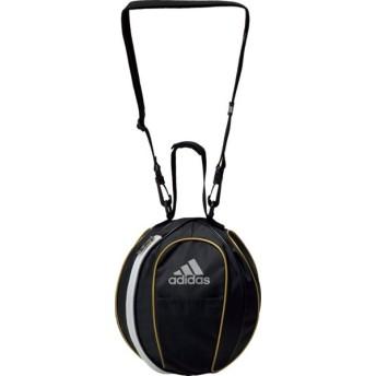 アディダス ボールバッグ1個入れ サッカー用 ブラック×ホワイト×ゴールド adidas AKM20BKG