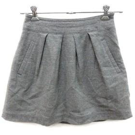 【中古】プロポーション ボディドレッシング PROPORTION BODY DRESSING スカート 台形 ミニ 総柄 ウール 2 グレー /AU レディー