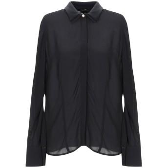 《期間限定セール開催中!》ELISABETTA FRANCHI レディース シャツ ブラック 44 レーヨン 100% / ポリエステル