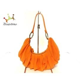 スライ SLY ハンドバッグ 美品 オレンジ 化学繊維×合皮   スペシャル特価 20190924