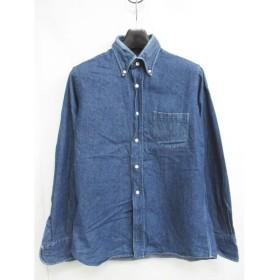 インディビジュアライズドシャツ INDIVIDUALIZED SHIRTS BDシャツ 長袖 デニム インディゴ USAコットン スタンダードフィット カジュアルシャツ 青 15・32 0301