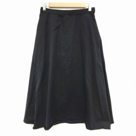 【中古】アーバンリサーチ ドアーズ URBAN RESEARCH DOORS スカート ロング ミモレ フレア 1 黒 ブラック レディース 【ベクト