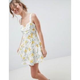 エイソス レディース スカート ボトムス ASOS DESIGN tiered mini skirt two-piece in floral print Multi
