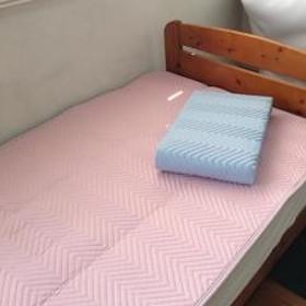ベッドパッド 洗える 日本製 シングル 敷きパッド ピンク
