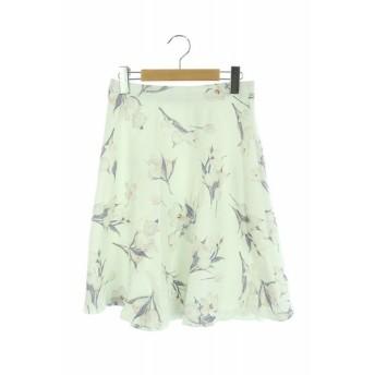 プロポーション ボディドレッシング PROPORTION BODY DRESSING スカート 膝丈 フレア 花柄 3 白 /HA ■OS レディース