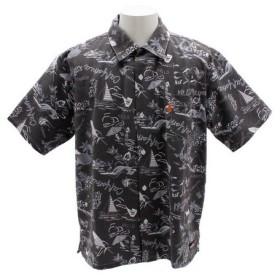 クリフメイヤー(KRIFF MAYER) ビーチキャンプアロハシャツ 1855108-2-BLK (Men's)