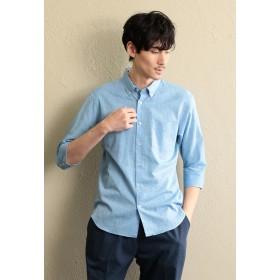 LOVELESS 【LOVELESS】MEN コットンリネン7分袖シャツ シャツ・ブラウス,サックスブルー3