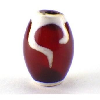 天珠ビーズ 如意天珠 (小) (1個)チベット 天珠 バラ売り 天然石 1粒売り 1玉 パーツ 風水グッズ 風水 ゆうパケット送料無料