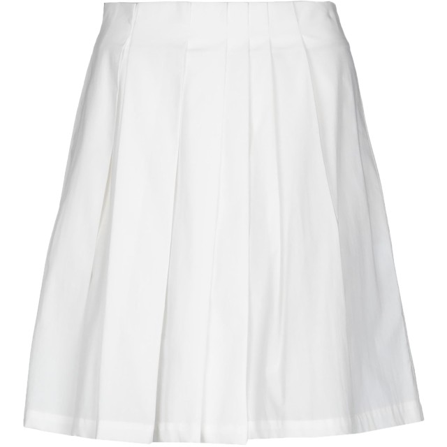 《期間限定セール開催中!》L' AUTRE CHOSE レディース ひざ丈スカート ホワイト 46 97% コットン 3% ポリウレタン