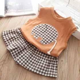 韓国子供服 女の子 ノースリーブTシャツ ショートパンツ 2点セット ベビー 夏着 子供服 お出かけ 散歩 海外旅行 70 80 90 100 110cm