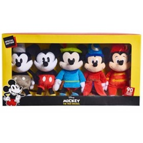 ディズニー ミッキー 90周年記念 ぬいぐるみ 5体セット Mickey's 90th Bean(未使用の新古品)