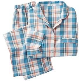 40%OFF【レディース】 洗い替えの1枚に!柄が可愛いパジャマ(綿100%) - セシール ■カラー:ブルー ■サイズ:5L