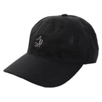 【Super Sports XEBIO & mall店:帽子】リネン刺繍キャップ OK 897PA9ST1751 BLK