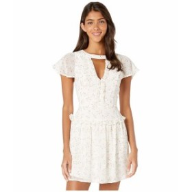 BCBジェネレーション レディース ワンピース トップス Cocktail Front Cut Out Mock Neck Woven Dress Antique White