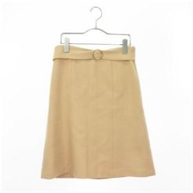 プロポーション ボディドレッシング PROPORTION BODY DRESSING スカート フレア ひざ丈 ウール 2 ベージュ ZPS /ew0