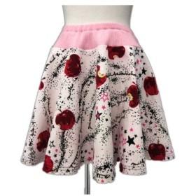 ミルク MILK Snow Whiteスカート サーキュラー フレア ギャザー ベロア 毒りんご アップル メルト 星 総柄 ピンク 190301M